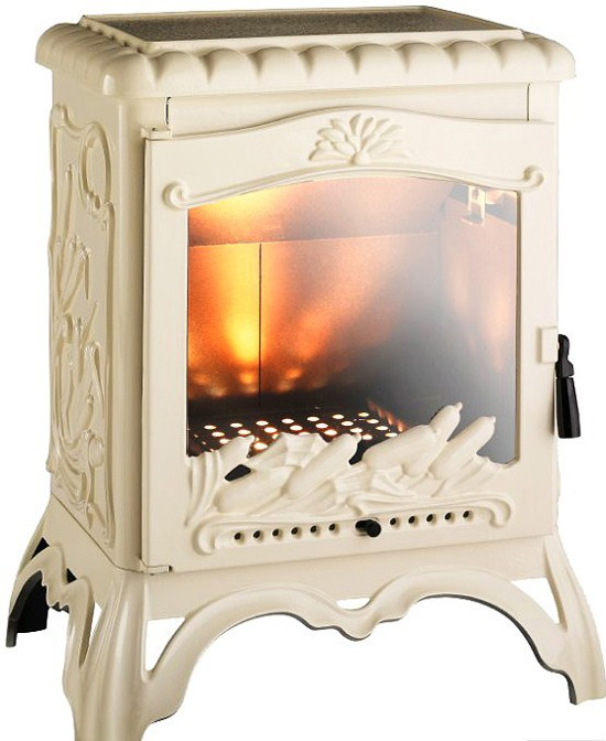 5 beautiful cream wood burning stoves for Poele a bois rectangulaire invicta
