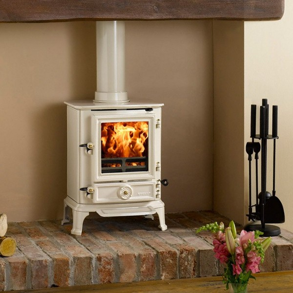 5 Beautiful Cream Wood Burning Stoves