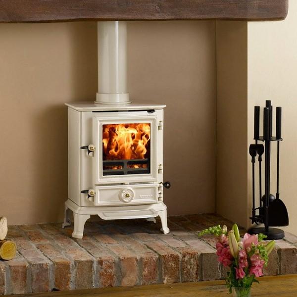 5 Beautiful Cream Wood-Burning Stoves - White Wood Stove WB Designs
