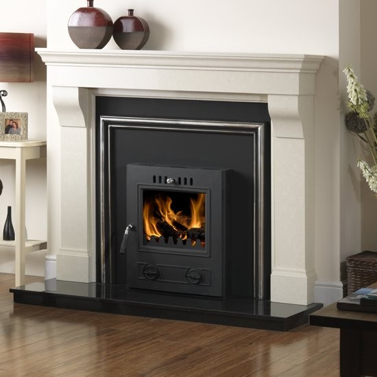 Arizona Denver 609 Matt Black 6.5 - 7.8 kW Multi Fuel Wood Burning Inset Stove