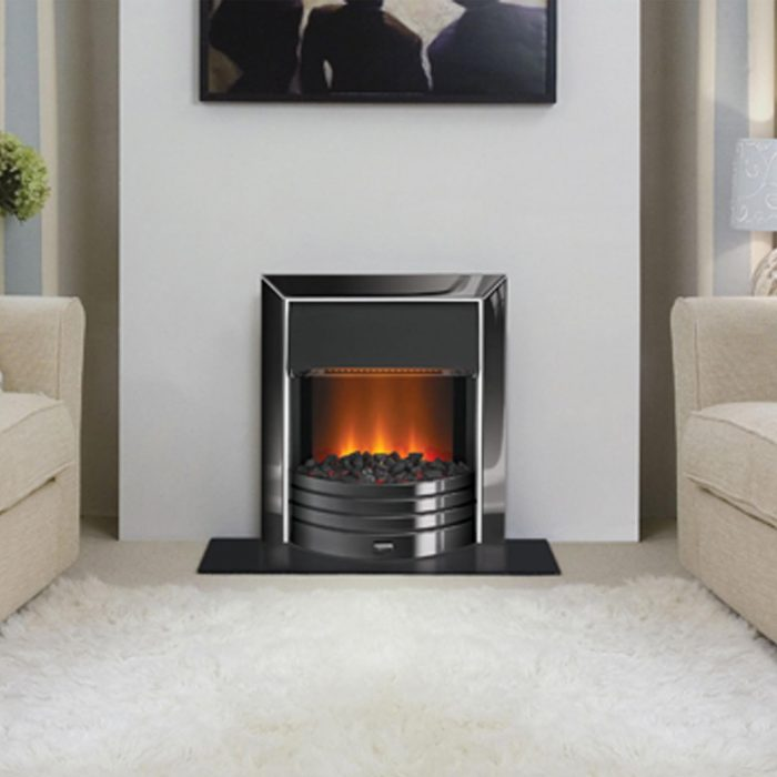 recessed hole in wall and inset electric fires
