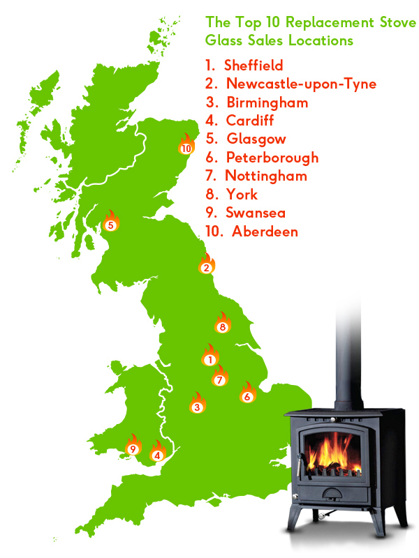 The top 10 stove glass sales locations