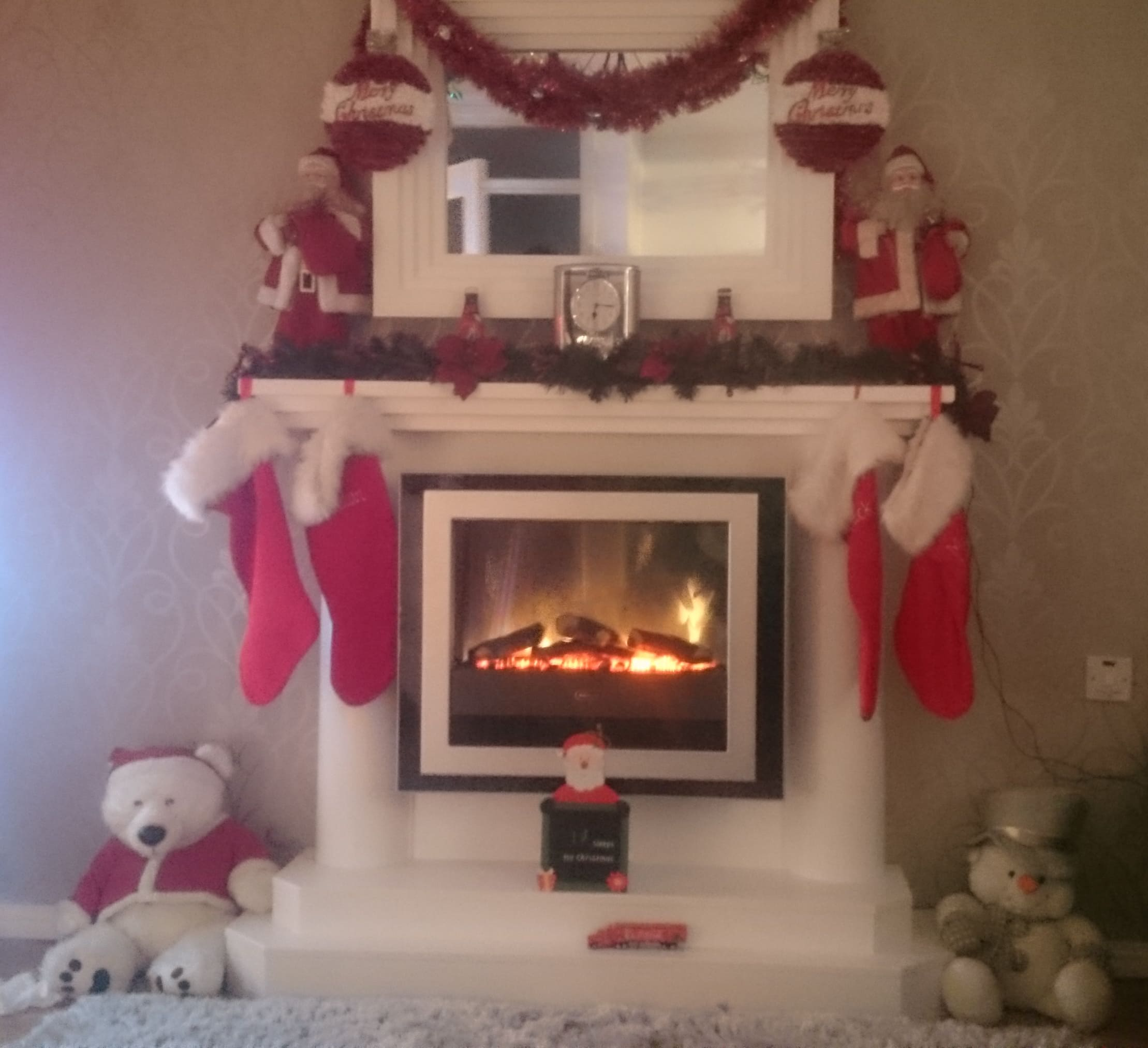 hang a discounted dimplex bizet on your fireplace for christmas