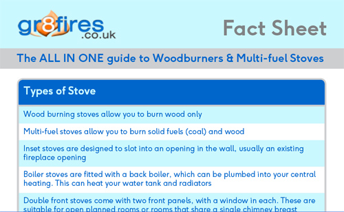 the all in one guide factsheet for woodburners