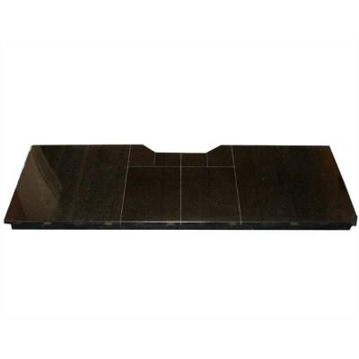 54 inch black granite hearth
