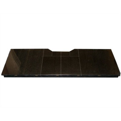 54 inch black granite solid hearth