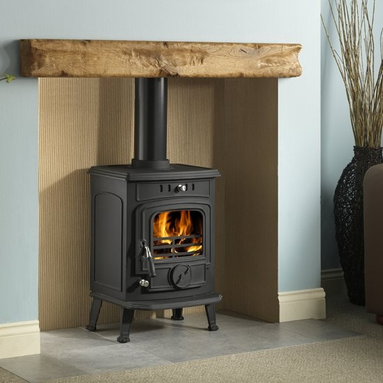 Wooden+Mantel+Wood+Burning+Stove
