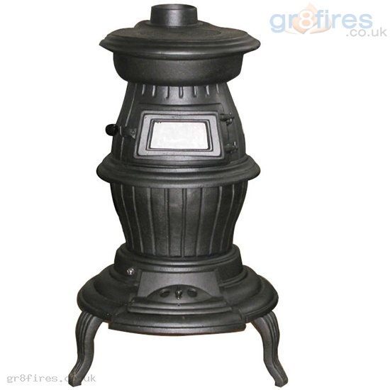 Pot Belly Stove : Evergreen DM700 Spruce 7.5kw Pot Belly Multi-fuel Stove