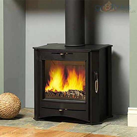 Firebelly T1 Black 4kw Woodburner